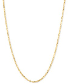 "Italian Gold Anchor 24"" Chain Necklace in 14k Gold"