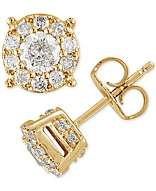 Diamond (1-1/2 ct. t.w.) Halo Stud Earrings in 14k White Gold (Also Available in Yellow or Rose Gold)