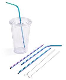 6-Pc. Reusable Straw & Cleaning Brush Set, Created for Macy's