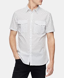 Calvin Klein Men's Dot-Print Shirt