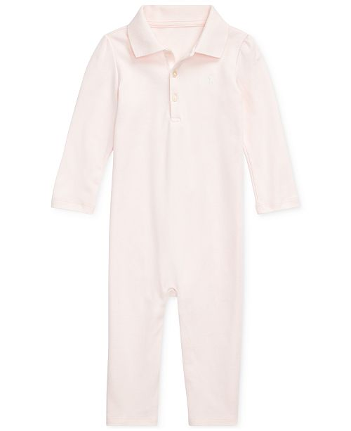 Polo Ralph Lauren Baby Girls Cotton Coverall