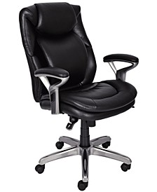 Wellness Mid-Back Leather Office Chair, Quick Ship