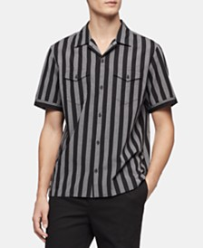 Calvin Klein Men's Vertical Stripe Shirt