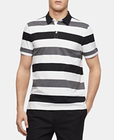 Calvin Klein Men's Contrast Stripe Polo