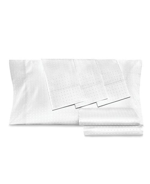AQ Textiles Dobby Dot 6-Pc Queen Sheet Set, 1000 Thread Count Cotton Blend