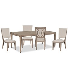 Venue Dining Furniture, 5-Pc. Set (Table & 4 Side Chairs)