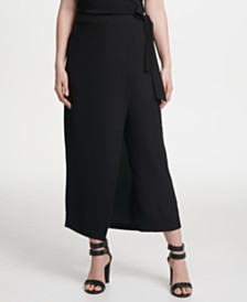 DKNY Wrap-Front Skirt