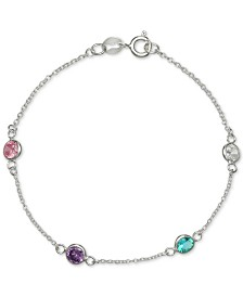 Giani Bernini Cubic Zirconia Rainbow Bracelet in Sterling Silver, Created for Macys