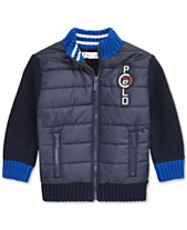 114bb2760 Polo Ralph Lauren Baby Boys Quilted Full-Zip Sweater