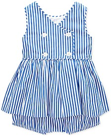 Baby Girls Striped Cotton Top & Shorts Set