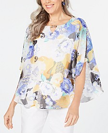 Printed Poncho Top, Created for Macy's