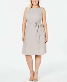 Anne Klein Plus Size Seersucker A-Line Dress