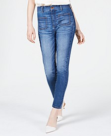 High-Rise Sailor-Pocket Skinny Jeans