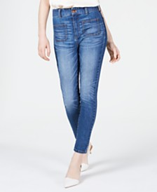OAT High-Rise Sailor-Pocket Skinny Jeans
