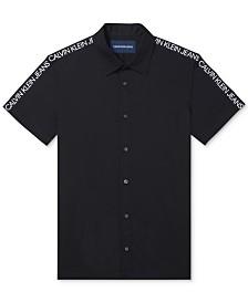Calvin Klein Jeans Men's Logo-Sleeve Poplin Shirt