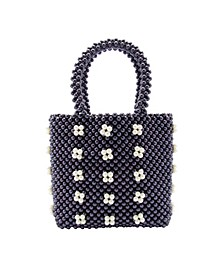 Macrame Dot Mini Tote Handbag
