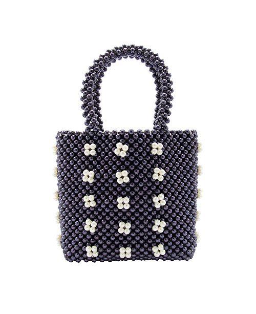 La Regale Macrame Dot Mini Tote Handbag