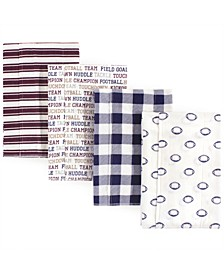 Layered Flannel Burp Cloths, 4 Pack