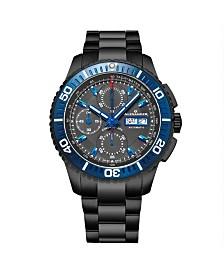 Alexander Watch A420-04, Stainless Steel Black Pvd Case on Link Bracelet