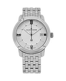 Alexander Watch A111B-04, Stainless Steel Case on Stainless Steel Bracelet