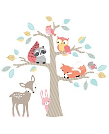 Little Woodland Animals and Tree Jumbo Nursery Wall Decals/Appliques