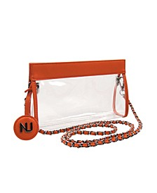 Zoe Braided Chain Strap Clear Purse