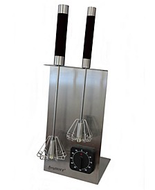"""16.5"""" 18/10 Stainless Steel Black Whisk And Timer Set"""