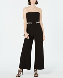 28th & Park Embellished Illusion Jumpsuit, Created for Macy's