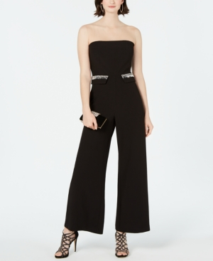 Image of 28th & Park Embellished Illusion Jumpsuit, Created for Macy's