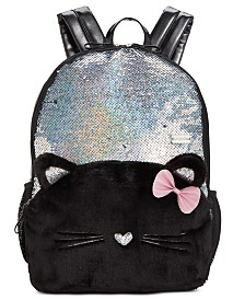 FAB Little & Big Girls Kitty Cat Reversible Sequin Backpack
