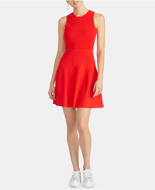 RACHEL Rachel Roy Liliana Fit & Flare Sweater Dress