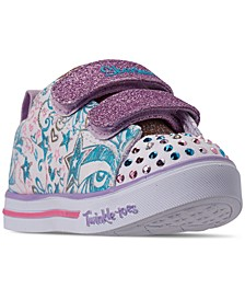 Toddler Girls' Twinkle Toes: Sparkle Lite - Sparkle Scribble Light-Up Casual Sneakers from Finish Line