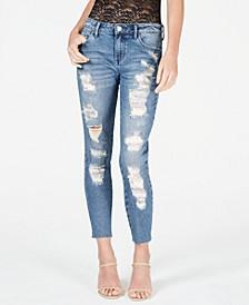 Embellished Rip & Repair Curvy Skinny Jeans