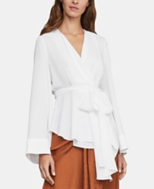 BCBGMAXAZRIA Belted Wrap Top