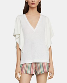 BCBGMAXAZRIA Draped-Sleeve Knit Top