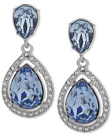 Givenchy Crystal Teardrop Earrings
