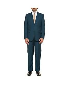 English Laundry Two Button Notch Lapel Slim Fit Men's Teal Jacket