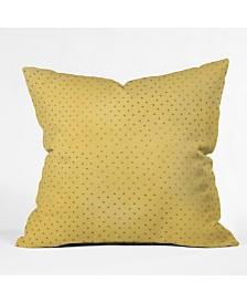 Allyson Johnson Sunny Yellow Dots Throw Pillow