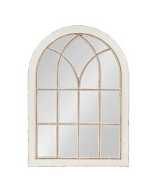 Kate and Laurel Nikoletta Large Windowpane Arch Mirror