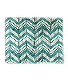 Heather Dutton Weathered Chevron Woven Throw Blanket