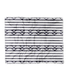 Holli Zollinger Linen Stripe Woven Throw Blanket