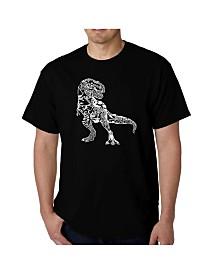 LA Pop Art Mens Word Art T-Shirt - Dinosaur
