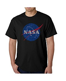 Mens Word Art T-Shirt - Nasa Meatball Logo