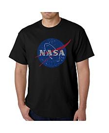 LA Pop Art Mens Word Art T-Shirt - Nasa Meatball Logo