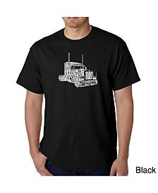 LA Pop Art Mens Word Art T-Shirt - Keep on Truckin