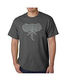 Mens Word Art T-Shirt - Elephant Tusks
