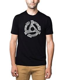 LA Pop Art Mens Premium Blend Word Art T-Shirt - Record Adapter