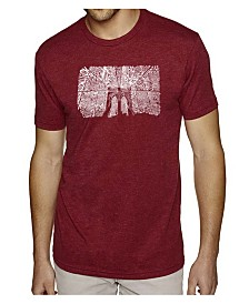 LA Pop Art Mens Premium Blend Word Art T-Shirt - Brooklyn Bridge