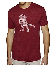 LA Pop Art Mens Premium Blend Word Art T-Shirt - Dinosaur