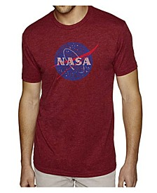 Mens Premium Blend Word Art T-Shirt - Nasa Meatball Logo